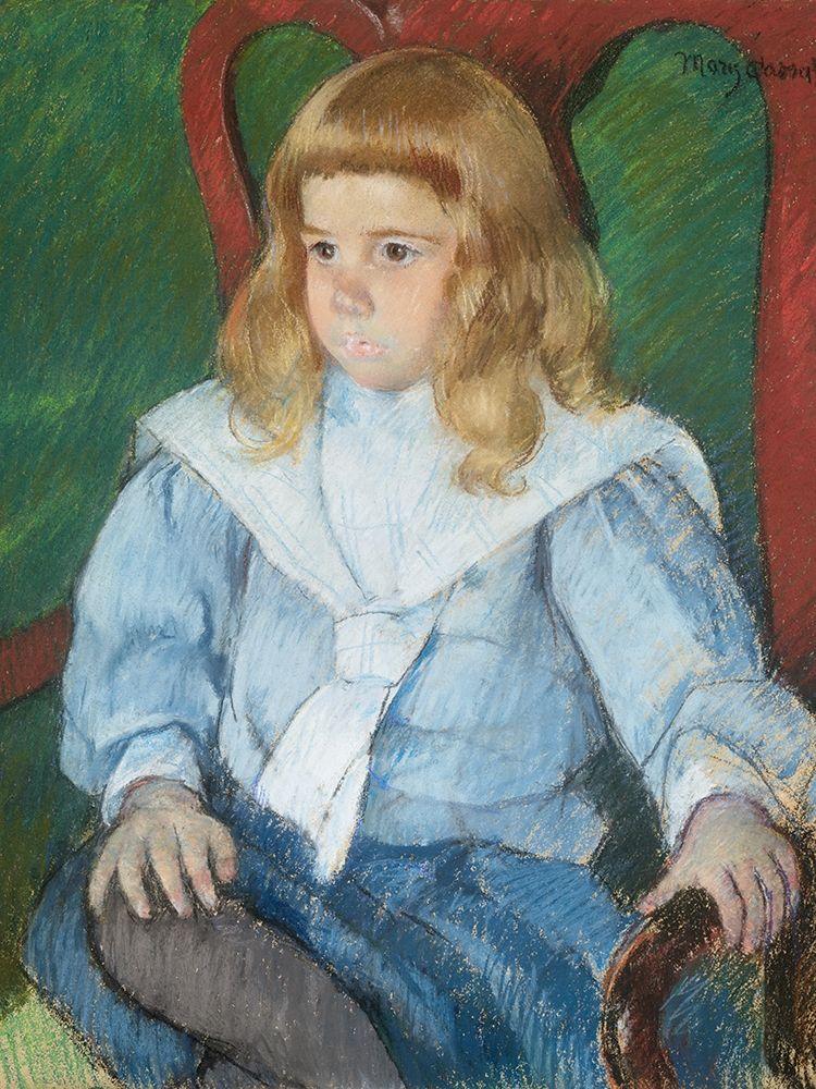 konfigurieren des Kunstdrucks in Wunschgröße Boy with Golden Curls von Cassatt, Mary