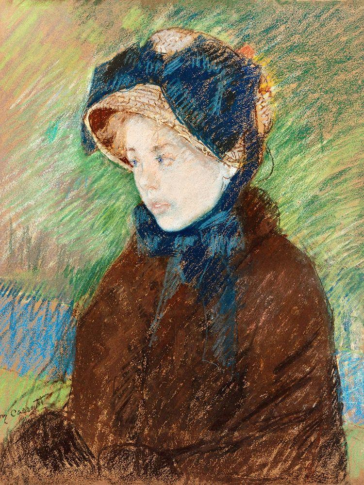 konfigurieren des Kunstdrucks in Wunschgröße Susan in a Straw Bonnet von Cassatt, Mary