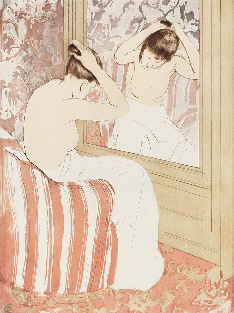 konfigurieren des Kunstdrucks in Wunschgröße The Coiffure von Cassatt, Mary