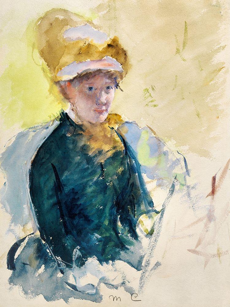 konfigurieren des Kunstdrucks in Wunschgröße Mary Cassatt Self-Portrait von Cassatt, Mary