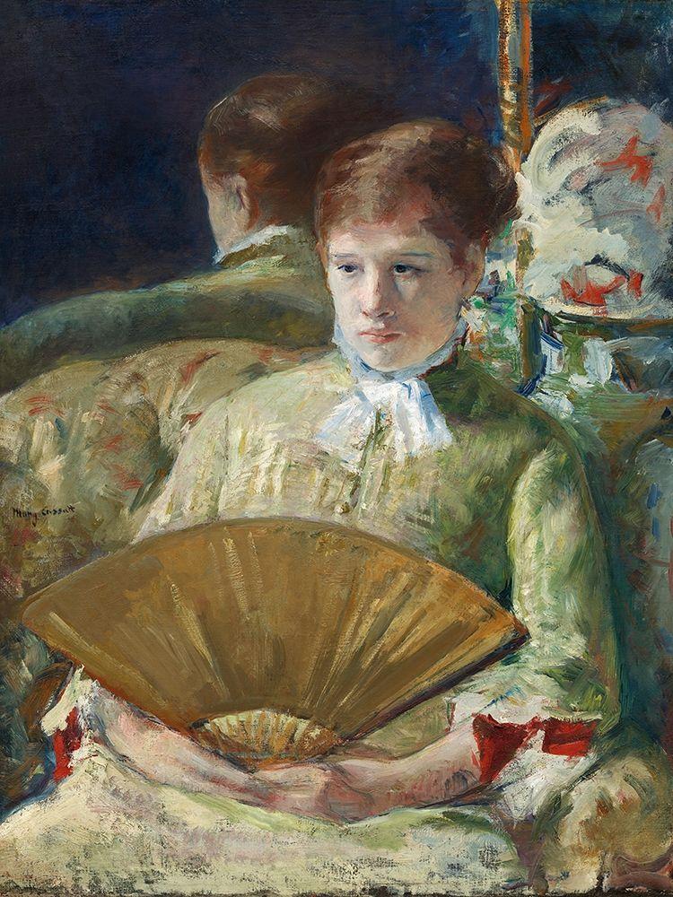 konfigurieren des Kunstdrucks in Wunschgröße Woman with a Fan von Cassatt, Mary
