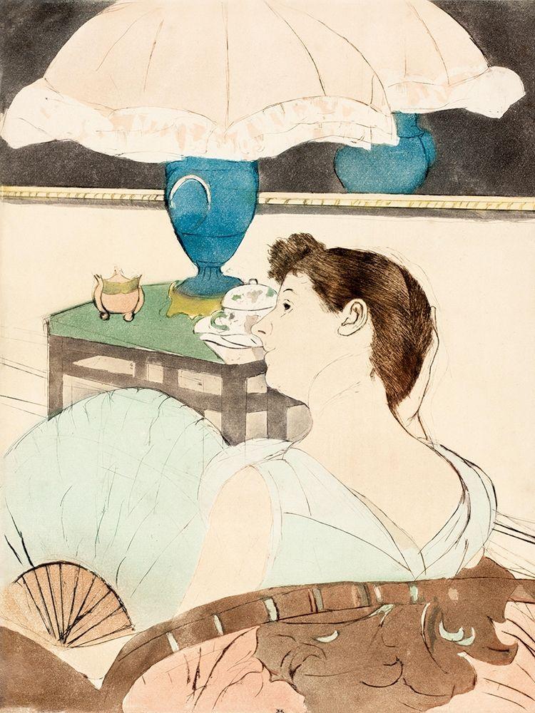 konfigurieren des Kunstdrucks in Wunschgröße The Lamp von Cassatt, Mary