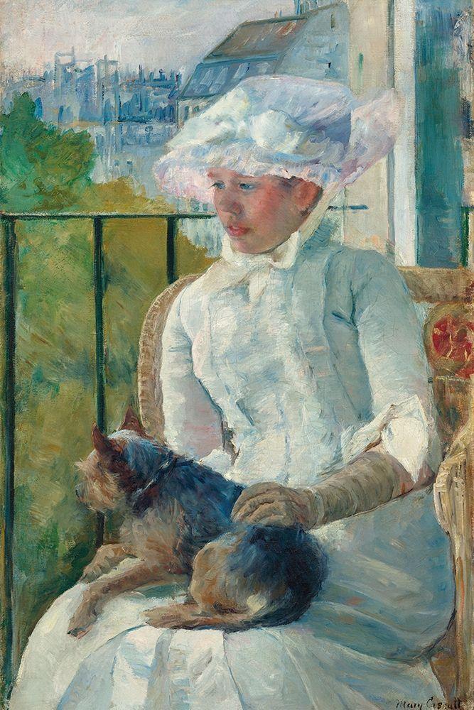 konfigurieren des Kunstdrucks in Wunschgröße Young Girl at a Window von Cassatt, Mary