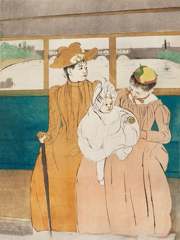 konfigurieren des Kunstdrucks in Wunschgröße In the Omnibus von Cassatt, Mary