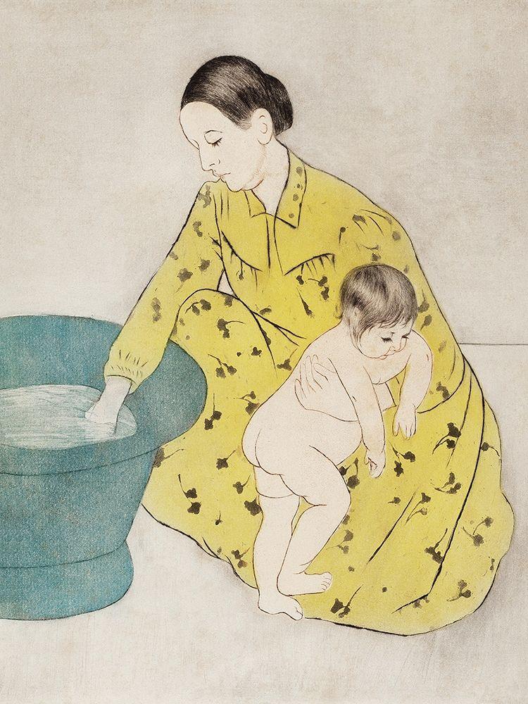 konfigurieren des Kunstdrucks in Wunschgröße The Bath von Cassatt, Mary