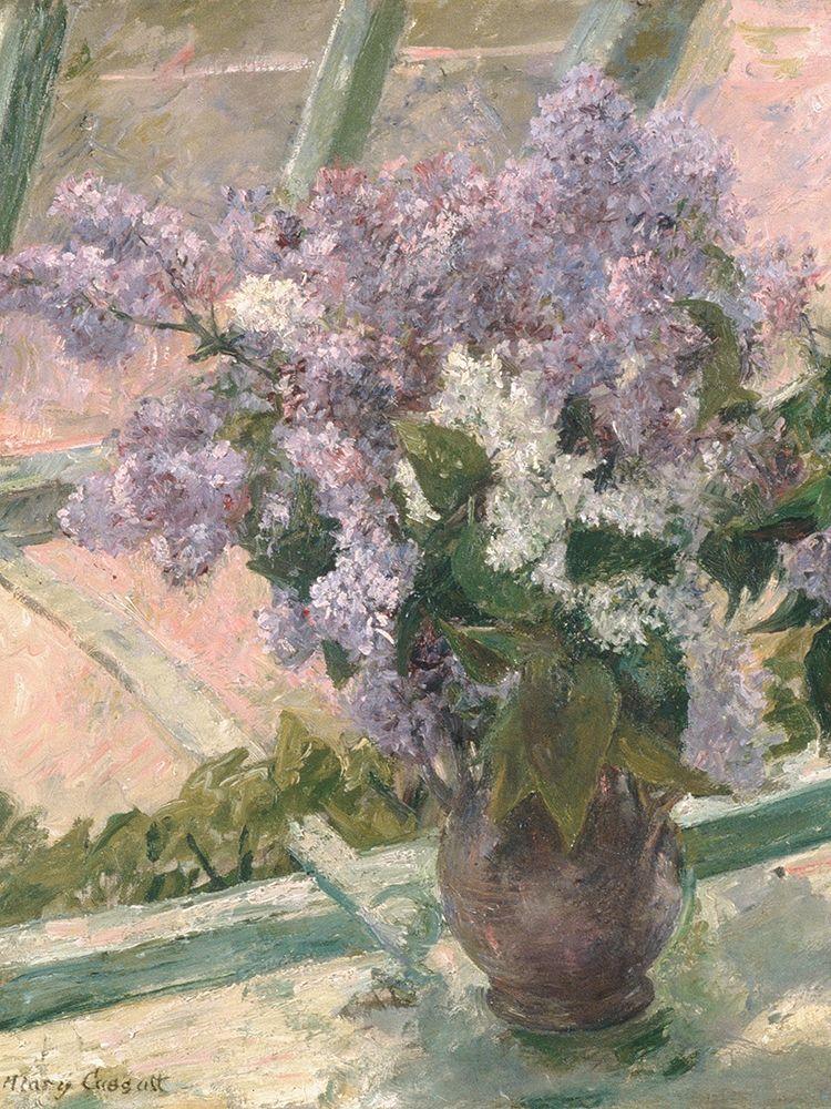 konfigurieren des Kunstdrucks in Wunschgröße Lilacs in a Window von Cassatt, Mary