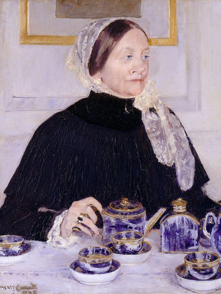 konfigurieren des Kunstdrucks in Wunschgröße Lady at the Tea Table von Cassatt, Mary