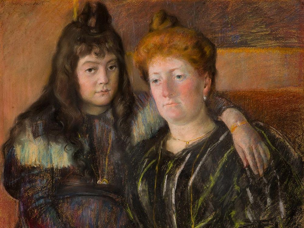 konfigurieren des Kunstdrucks in Wunschgröße Madame Gaillard and Her Daughter Marie-Therese von Cassatt, Mary