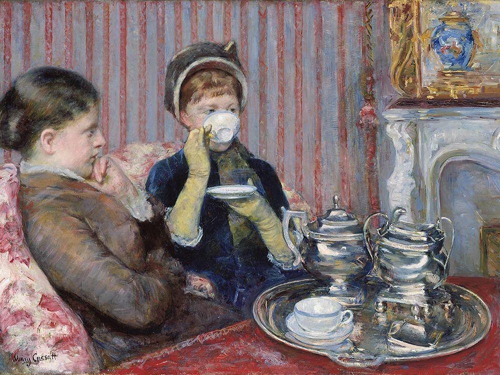 konfigurieren des Kunstdrucks in Wunschgröße The Tea von Cassatt, Mary