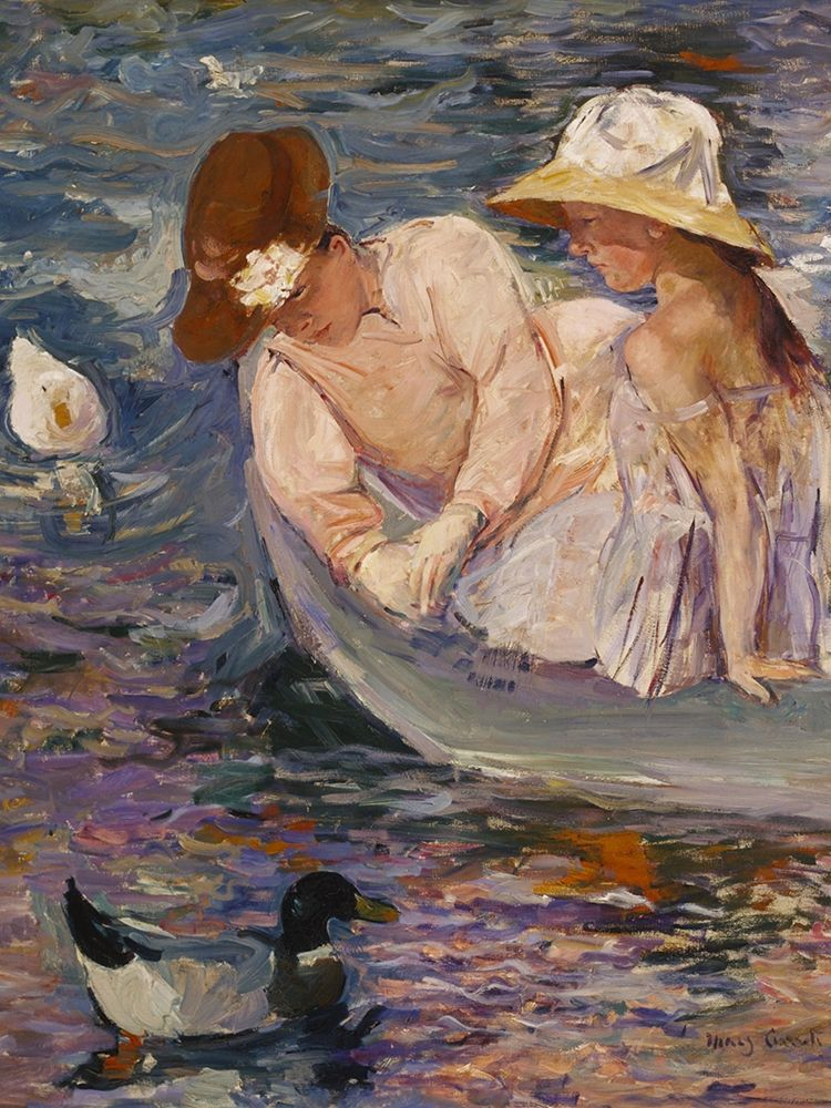 konfigurieren des Kunstdrucks in Wunschgröße Summertime von Cassatt, Mary