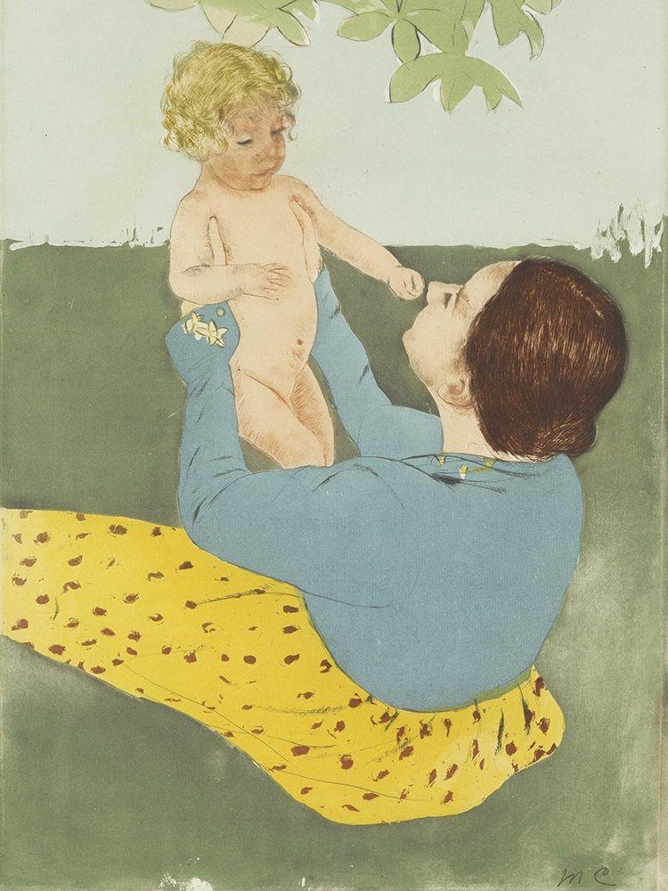 konfigurieren des Kunstdrucks in Wunschgröße Under the Horse-Chestnut Tree von Cassatt, Mary