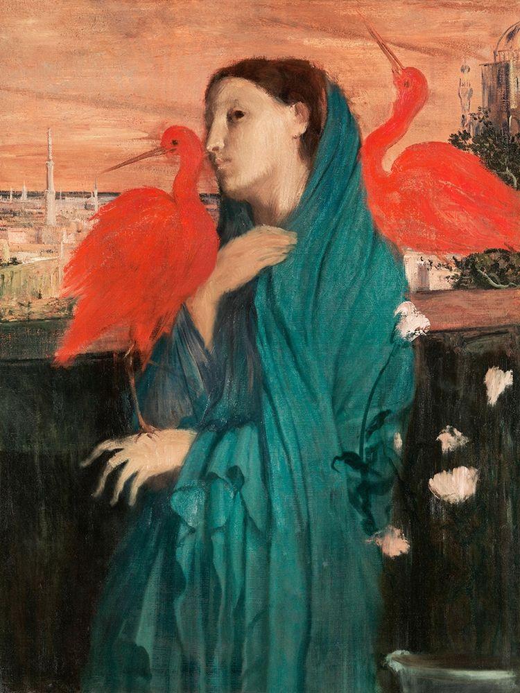 konfigurieren des Kunstdrucks in Wunschgröße Young Woman with Ibis von Degas, Edgar
