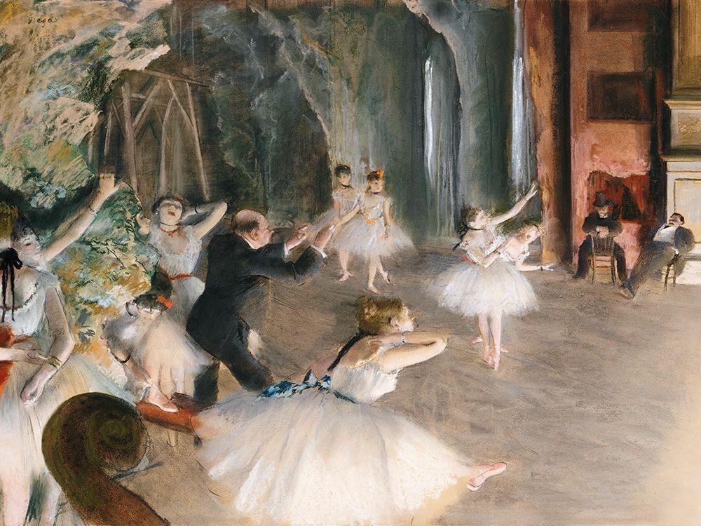 konfigurieren des Kunstdrucks in Wunschgröße The Rehearsal Onstage von Degas, Edgar