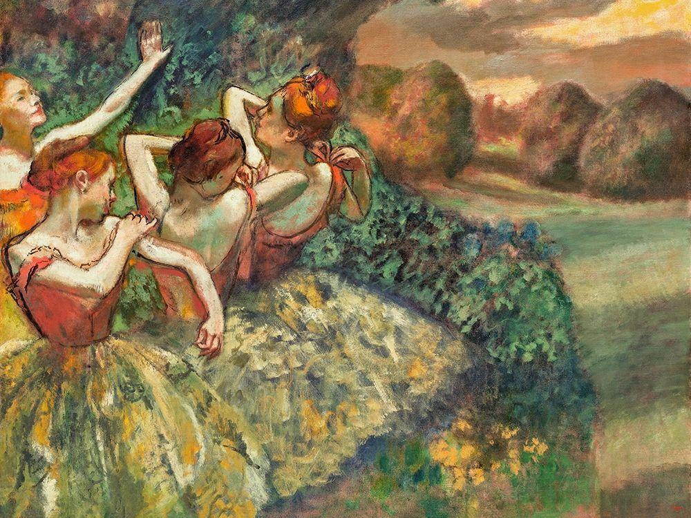 konfigurieren des Kunstdrucks in Wunschgröße Four Dancers von Degas, Edgar