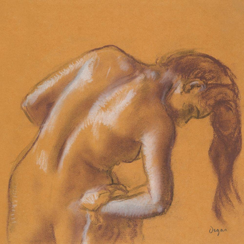 konfigurieren des Kunstdrucks in Wunschgröße Nude lady. Bather Drying Herself von Degas, Edgar