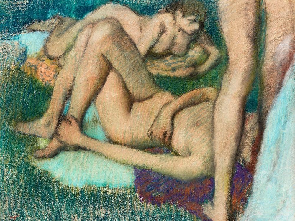 konfigurieren des Kunstdrucks in Wunschgröße Naked Women Bathers von Degas, Edgar
