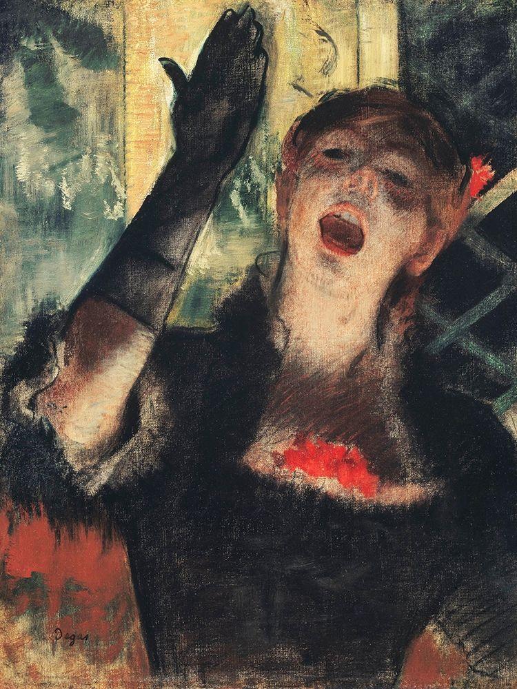 konfigurieren des Kunstdrucks in Wunschgröße Cafe Singer von Degas, Edgar