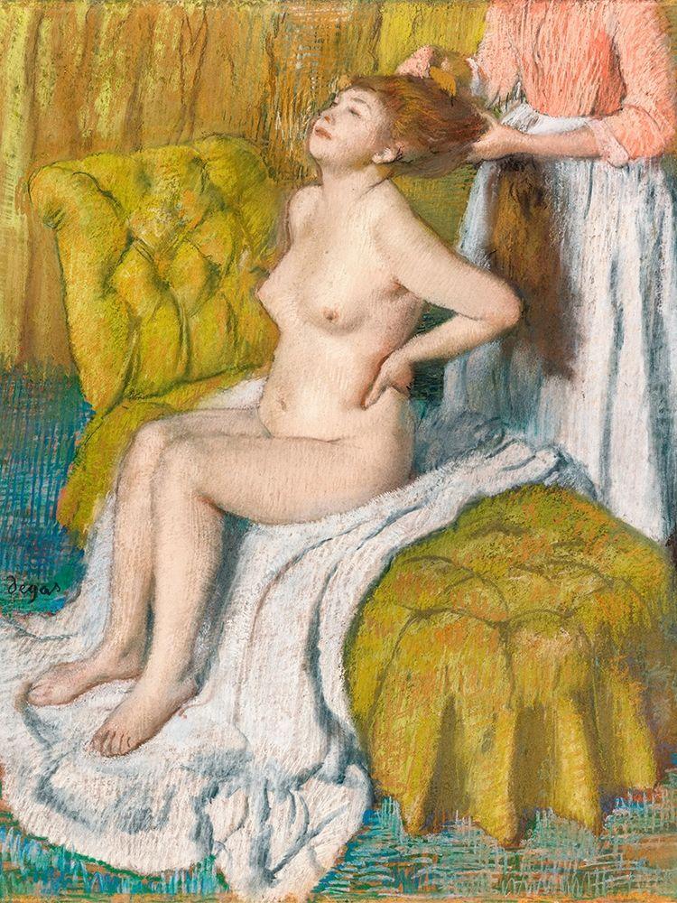 konfigurieren des Kunstdrucks in Wunschgröße Woman Having Her Hair Combed von Degas, Edgar