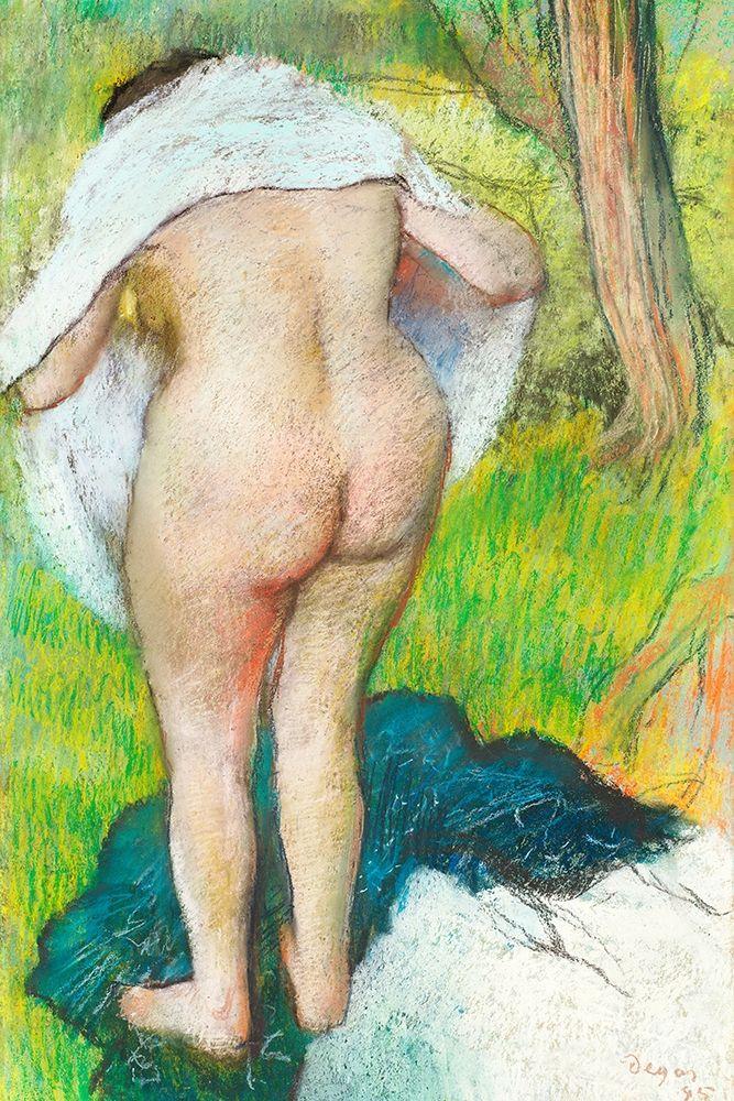 konfigurieren des Kunstdrucks in Wunschgröße Girl Drying Herself von Degas, Edgar