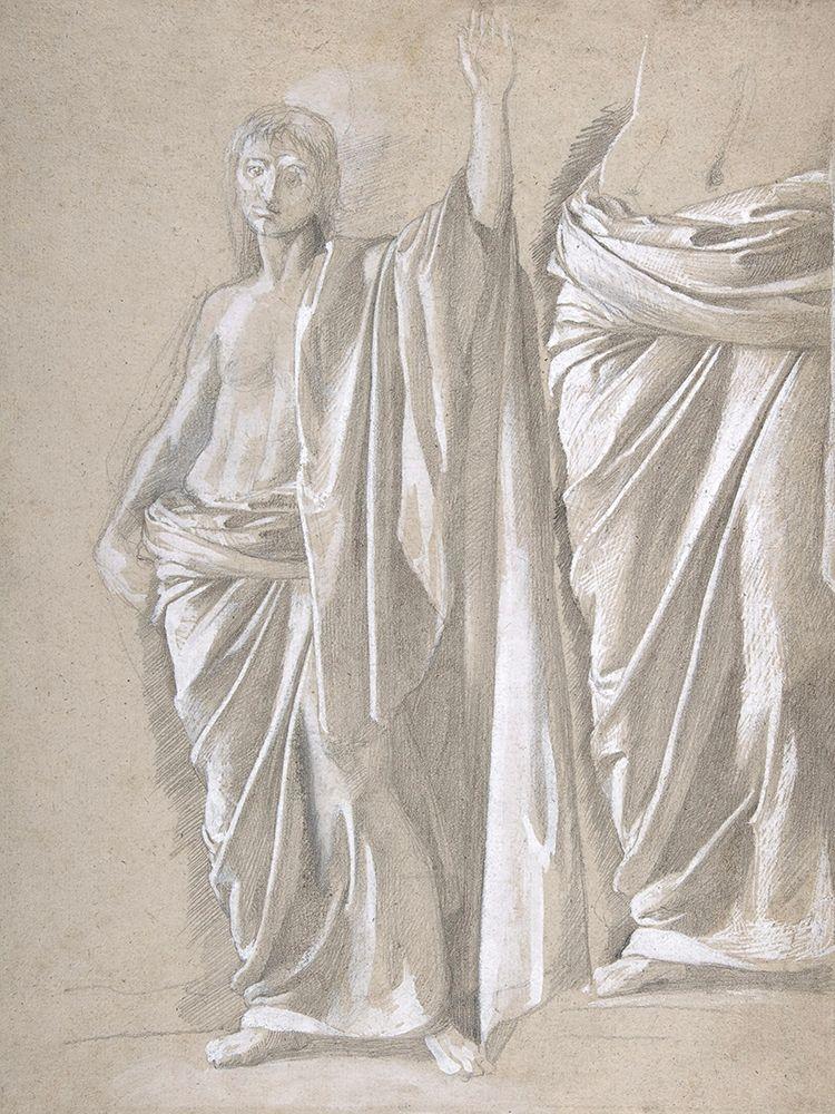 konfigurieren des Kunstdrucks in Wunschgröße Study of a Draped Figure von Degas, Edgar