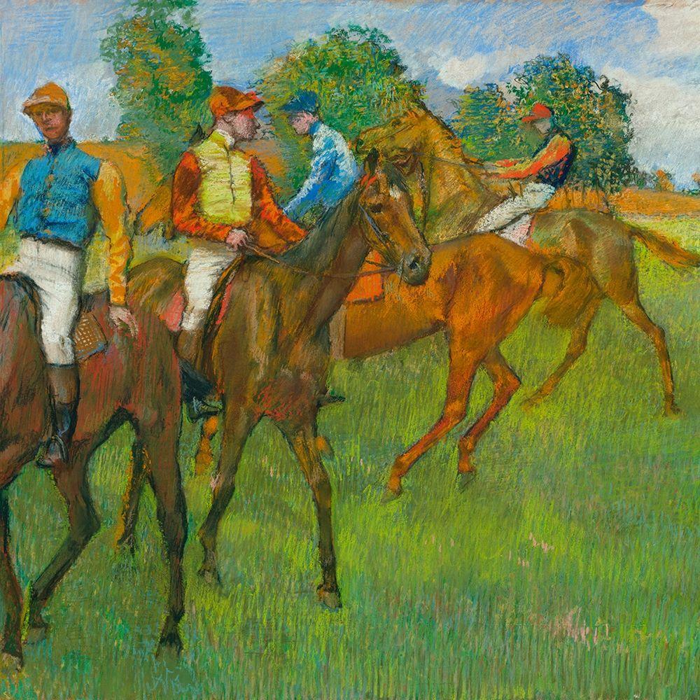 konfigurieren des Kunstdrucks in Wunschgröße Before the Race von Degas, Edgar