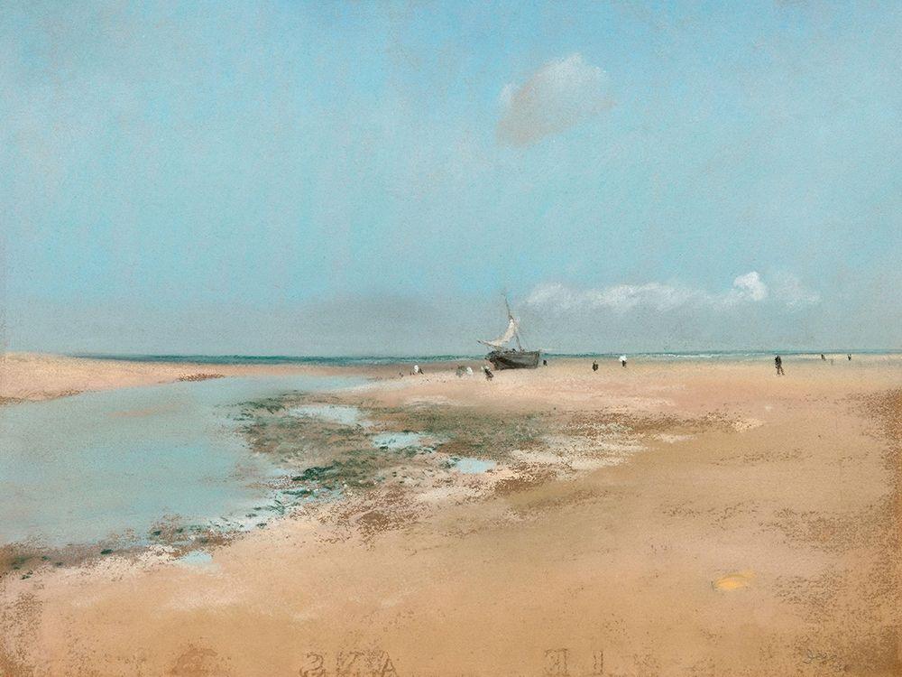 konfigurieren des Kunstdrucks in Wunschgröße Beach at Low Tide von Degas, Edgar