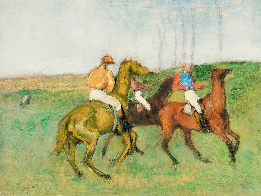 konfigurieren des Kunstdrucks in Wunschgröße Jockeys and Race Horses von Degas, Edgar