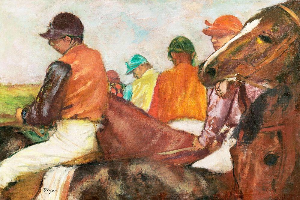 konfigurieren des Kunstdrucks in Wunschgröße The Jockeys von Degas, Edgar