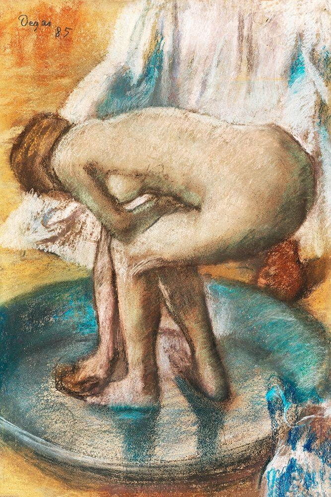 konfigurieren des Kunstdrucks in Wunschgröße Woman Bathing in a Shallow Tub von Degas, Edgar