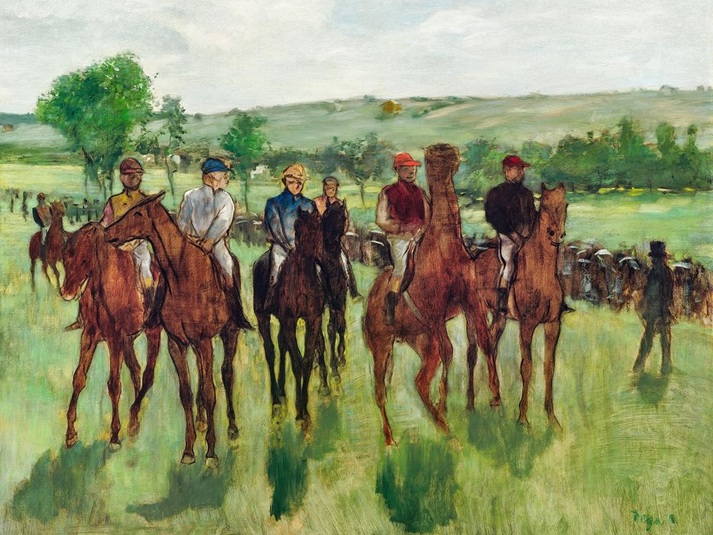 konfigurieren des Kunstdrucks in Wunschgröße The Riders von Degas, Edgar