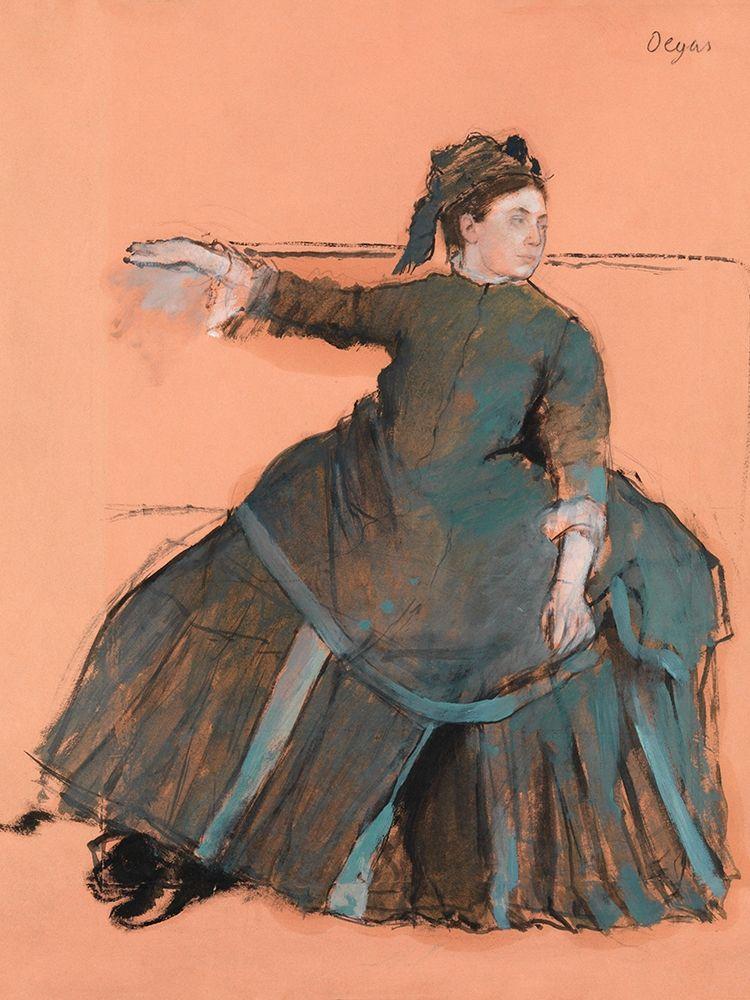 konfigurieren des Kunstdrucks in Wunschgröße Woman on a Sofa von Degas, Edgar