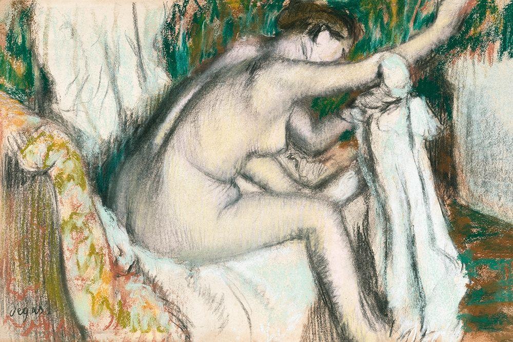 konfigurieren des Kunstdrucks in Wunschgröße Woman Drying Her Arm von Degas, Edgar