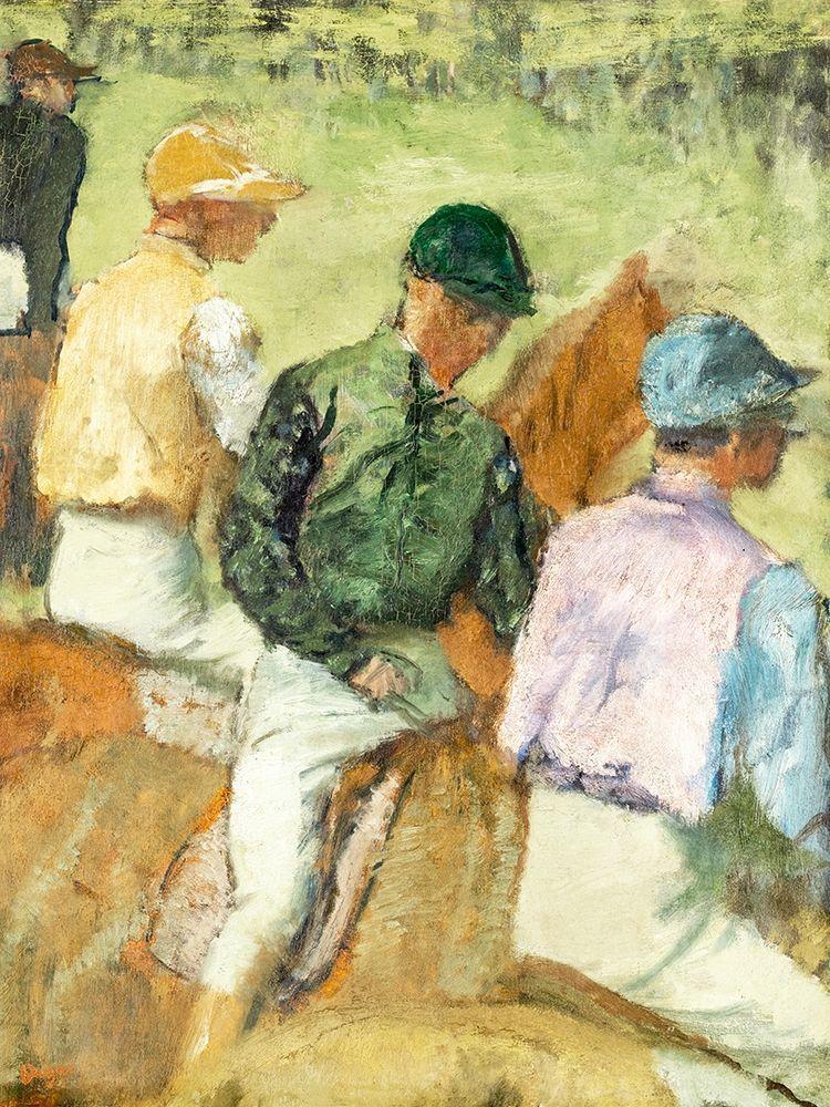 konfigurieren des Kunstdrucks in Wunschgröße Four Jockeys von Degas, Edgar