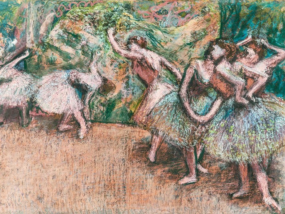 konfigurieren des Kunstdrucks in Wunschgröße Ballet Scene von Degas, Edgar