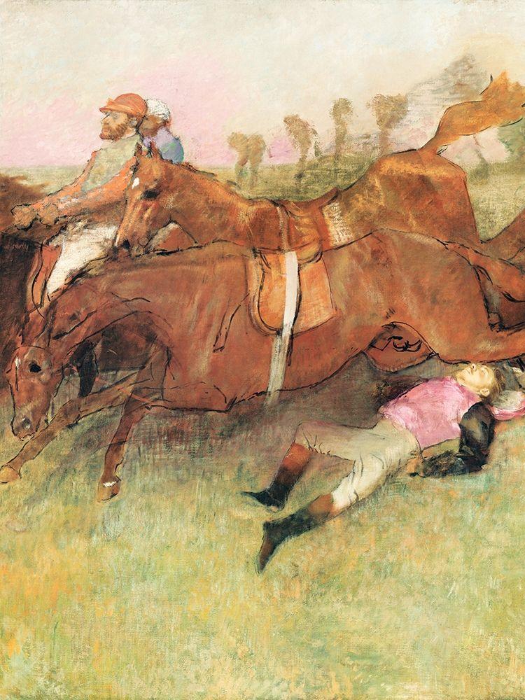 konfigurieren des Kunstdrucks in Wunschgröße Scene from the Steeplechase: The Fallen Jockey von Degas, Edgar