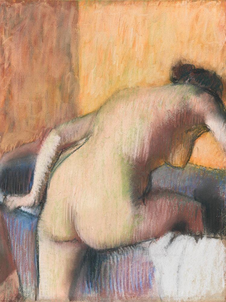 konfigurieren des Kunstdrucks in Wunschgröße Bather Stepping into a Tub von Degas, Edgar