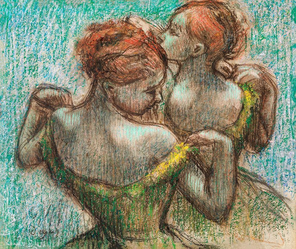 konfigurieren des Kunstdrucks in Wunschgröße Two Dancers von Degas, Edgar