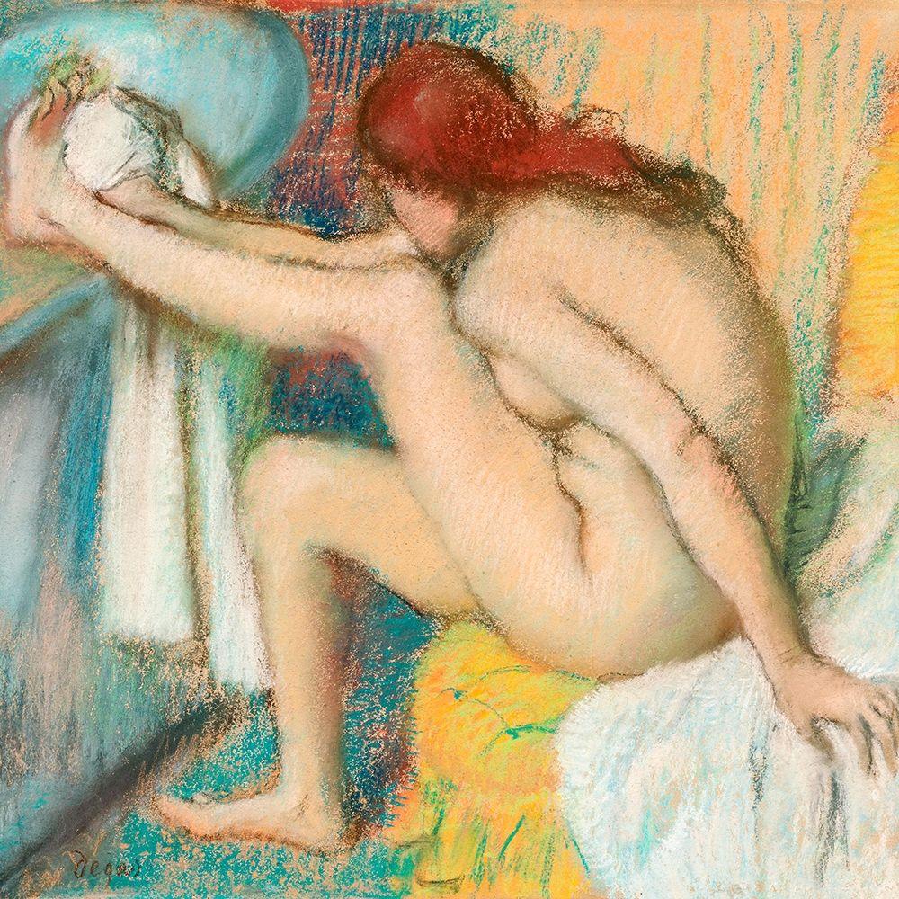 konfigurieren des Kunstdrucks in Wunschgröße Woman Drying Her Foot von Degas, Edgar