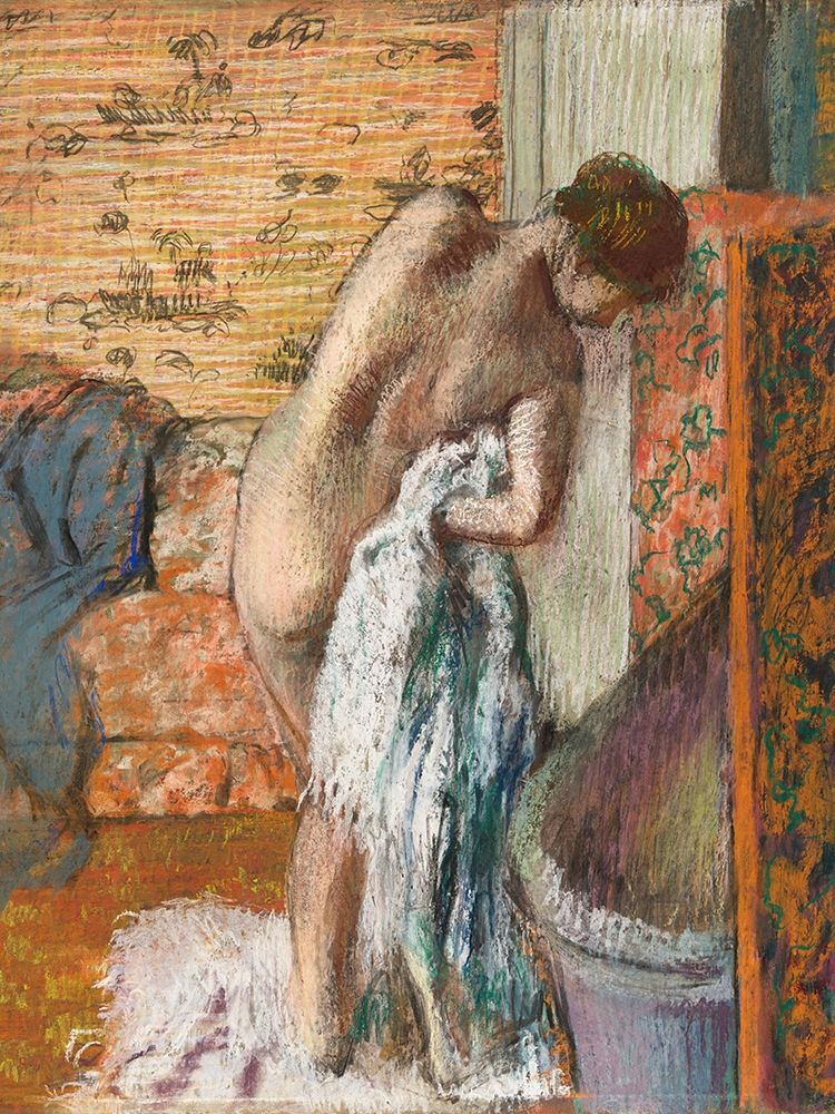 konfigurieren des Kunstdrucks in Wunschgröße Apres le bain von Degas, Edgar