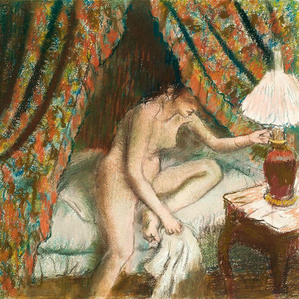 konfigurieren des Kunstdrucks in Wunschgröße Retiring von Degas, Edgar