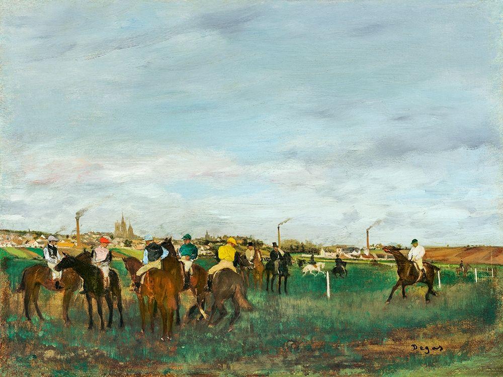 konfigurieren des Kunstdrucks in Wunschgröße The Races von Degas, Edgar