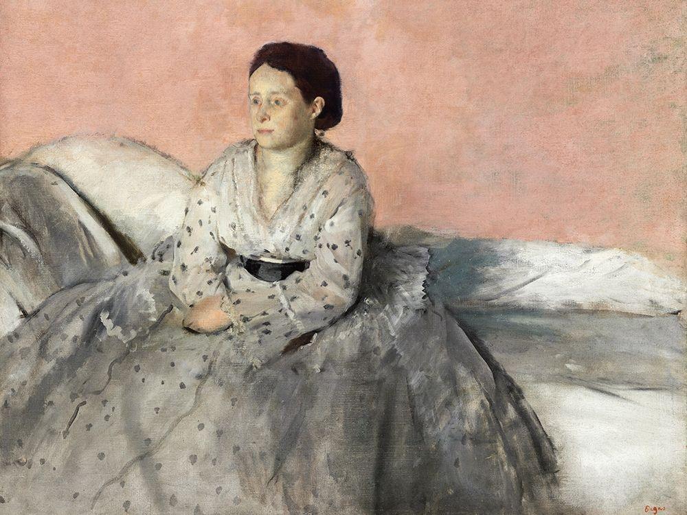 konfigurieren des Kunstdrucks in Wunschgröße Madam Rene de Gas von Degas, Edgar
