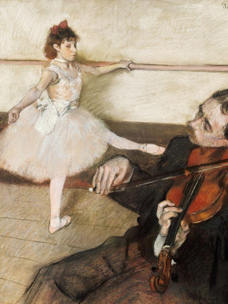 konfigurieren des Kunstdrucks in Wunschgröße The Dance Lesson von Degas, Edgar