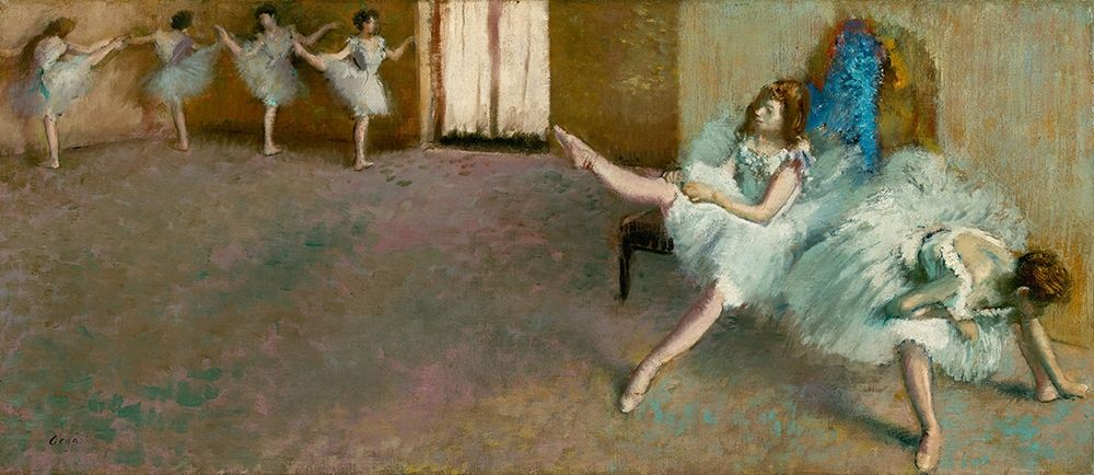 konfigurieren des Kunstdrucks in Wunschgröße Before the Ballet von Degas, Edgar