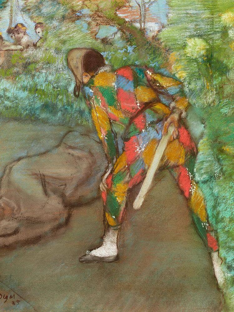 konfigurieren des Kunstdrucks in Wunschgröße Harlequin von Degas, Edgar