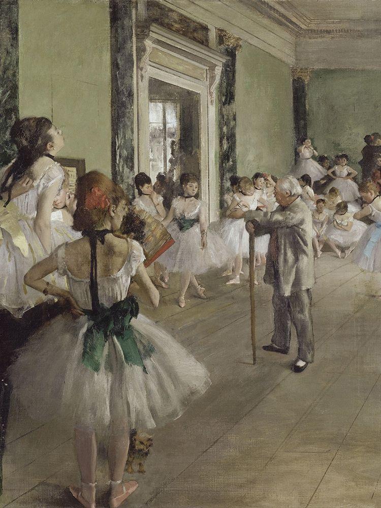 konfigurieren des Kunstdrucks in Wunschgröße The Ballet Class von Degas, Edgar