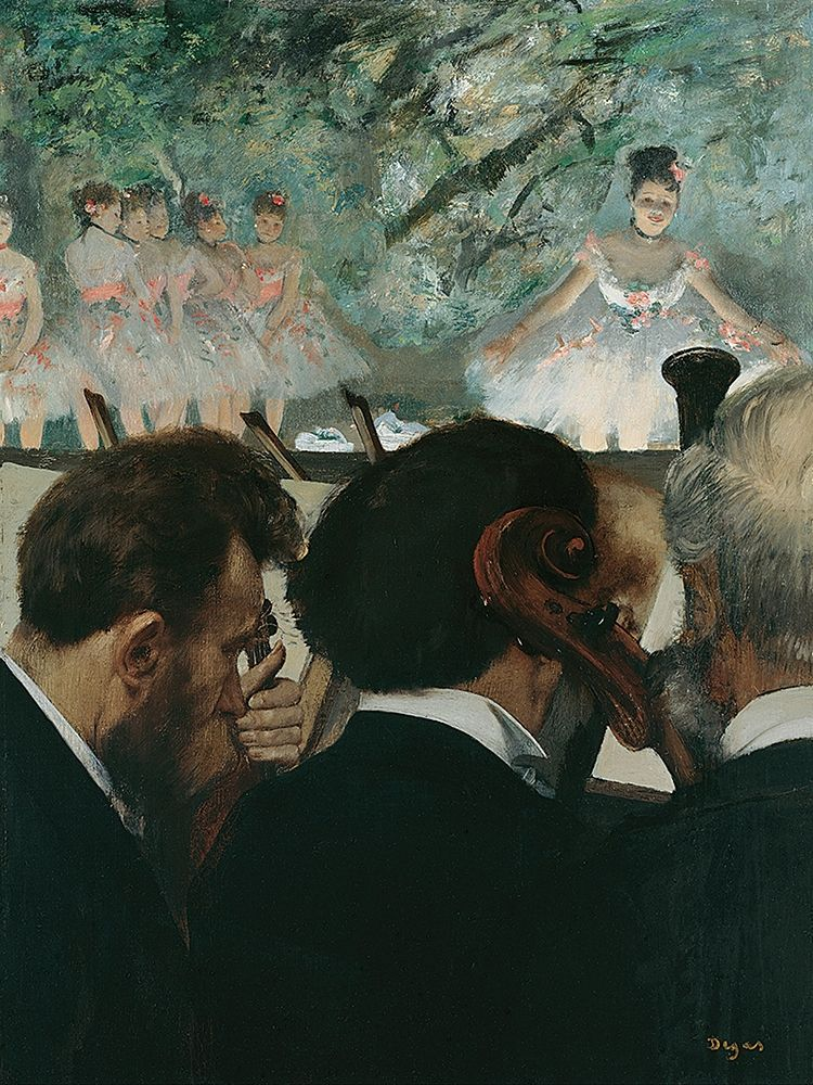konfigurieren des Kunstdrucks in Wunschgröße Orchestra Musicians von Degas, Edgar