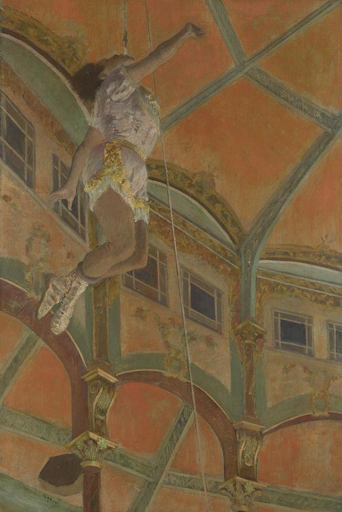konfigurieren des Kunstdrucks in Wunschgröße Miss La La at the Cirque Fernando von Degas, Edgar