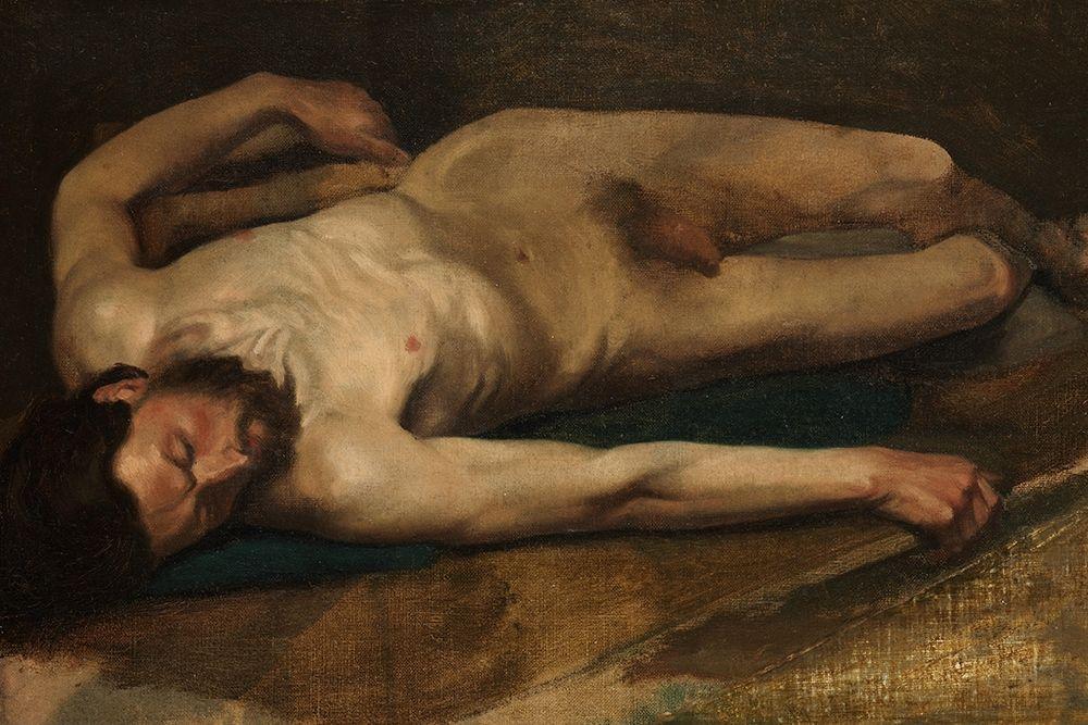 konfigurieren des Kunstdrucks in Wunschgröße Male Nude von Degas, Edgar