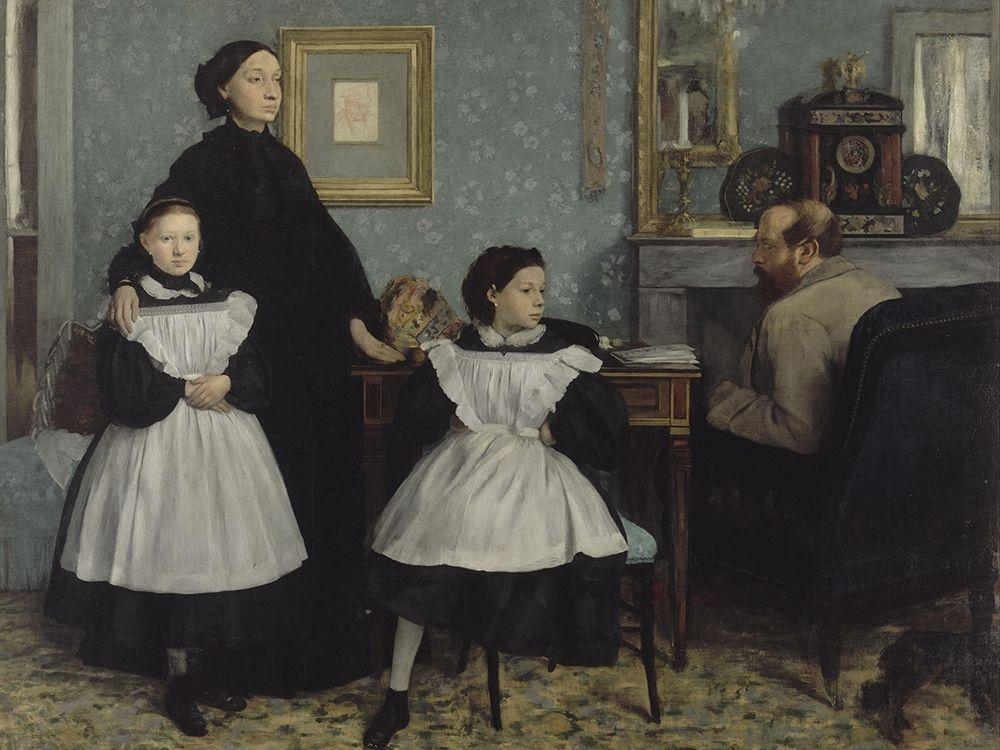 konfigurieren des Kunstdrucks in Wunschgröße The Bellelli Family von Degas, Edgar